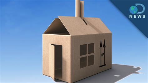 How To Make A House Out Of Construction Paper - building the future out of cardboard