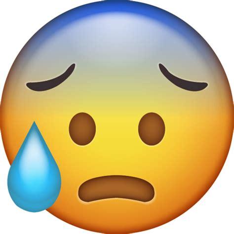 cold sweat iphone emoji icon  jpg  ai