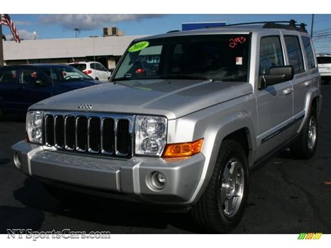 2010 jeep commander silver 2010 jeep commander sport 4x4 in bright silver metallic