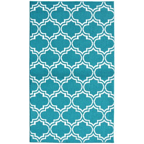 Silhouette Teal White Area Rug Teal And White Area Rug