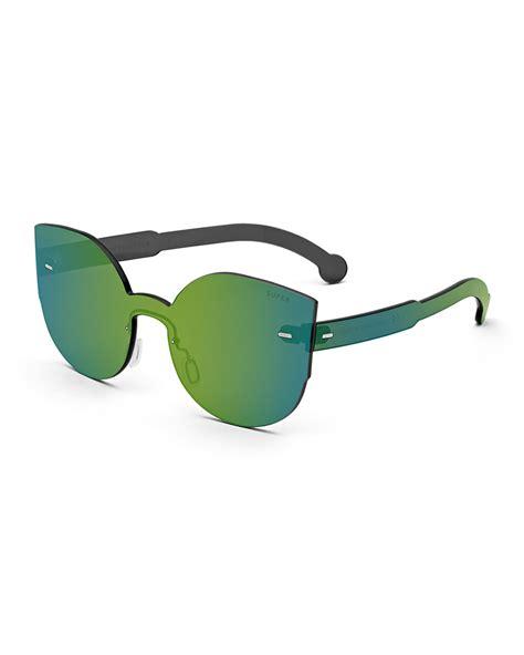 Tuttolente Green Sunglasses retrosuperfuture tuttolente lucia cat eye iridescent