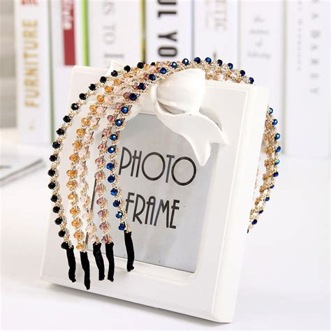 hairs pins with bead to decorate hairs modern style shining full crystal beads headband hairbands