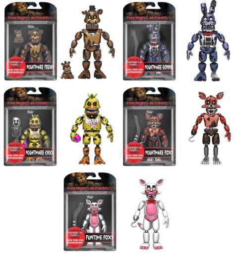5 nights at freddy s toys five nights at freddy s 5 quot articulated figures
