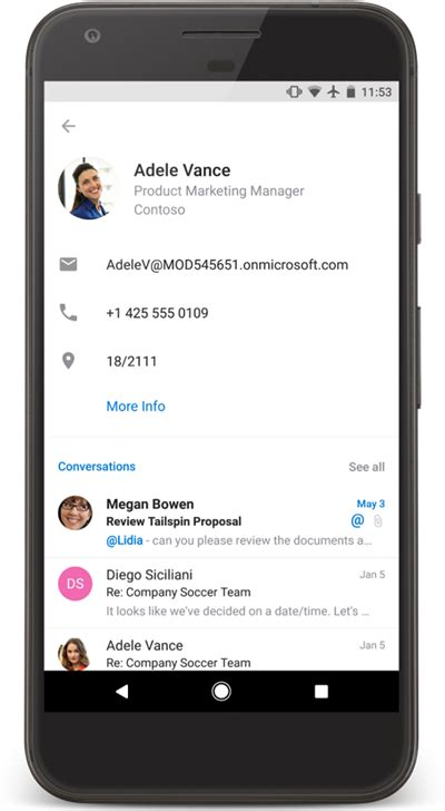 contacts app for android outlook for android gets the ability to edit your contacts mspoweruser