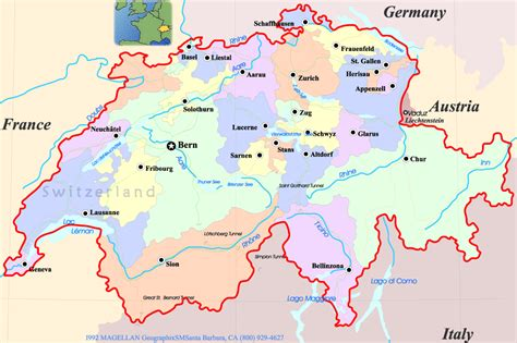 major cities in switzerland map mrs world map country