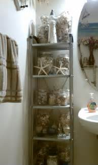 my nautical sea shell themed bathroom decor