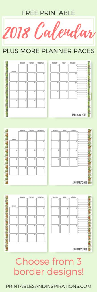 printable kitchen calendar happy kitchen 2018 calendar and planner free printables