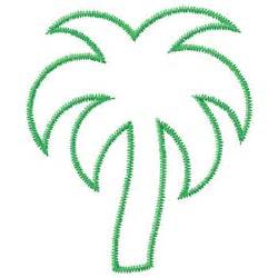 gunold embroidery design palm tree outline 4 37 inches h