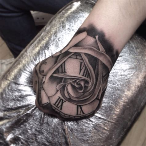 clock and rose tattoo tattoo collections