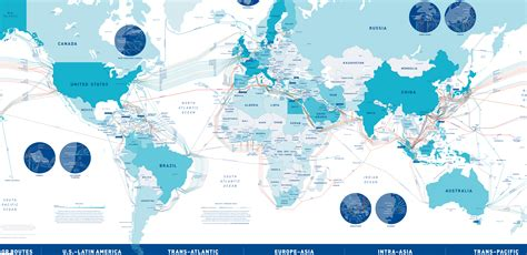 undersea cable map submarine cable map 2016 by telegeography map