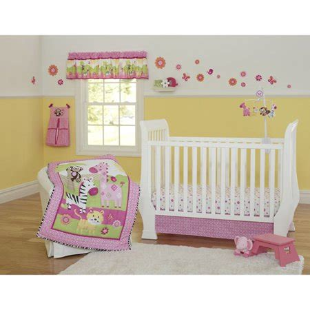 garanimals safari 3 crib bedding set walmart
