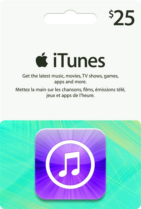 Electronic Itunes Gift Card - apple itunes gift card 25