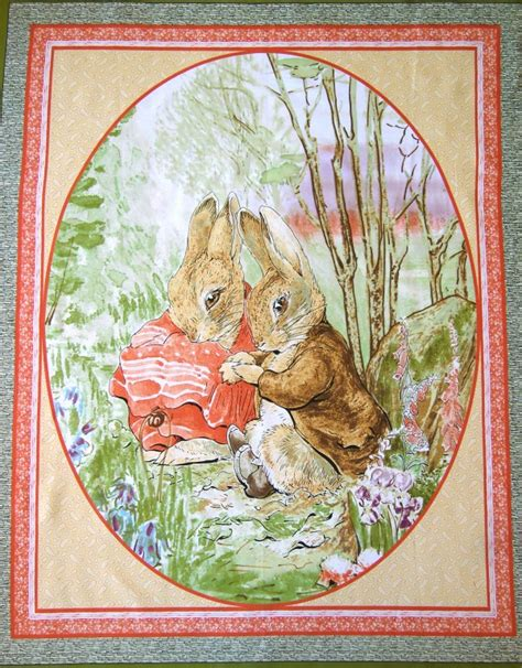 Beatrix Potter Quilt Fabric by Beatrix Potter Fabric Panel Quilting Sewing Baby Cot Ebay