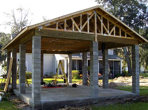 building a cabana enhance pavers retaining walls fire pits jacksonville
