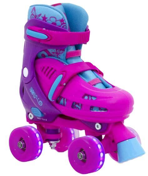 light up inline skates sfr lightning hurricane light up quad roller skates pink