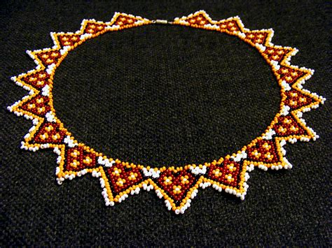 beaded sun free pattern for beaded necklace desert sun magic