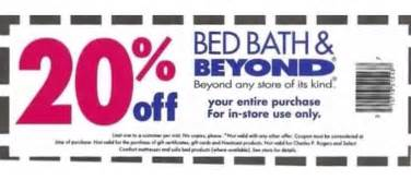 bed bath beyond in store 20 entire purchase coupon
