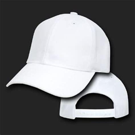 plain baseball cap in white intl white youth plain blank solid adjustable tennis baseball