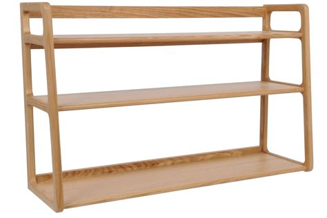 3 tier wood wall shelf