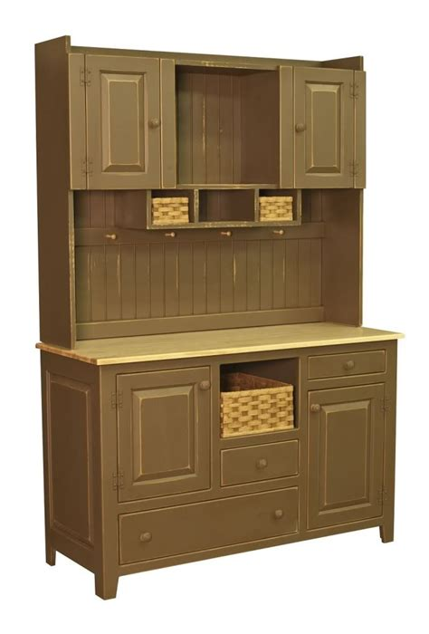 Wood Pantry Cabinet by Amish Kitchen Hutch Pantry Cabinet Primitive Country Pine