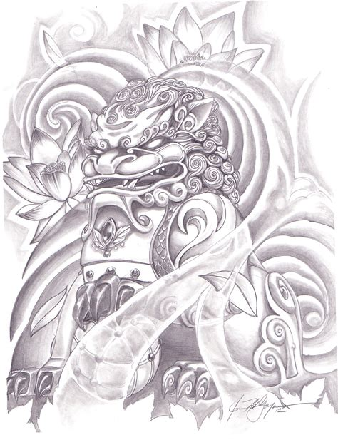 foo dog tattoo design 1000 images about foo on