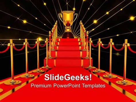 powerpoint templates for awards winner on a red carpet path award templates and ppt themes