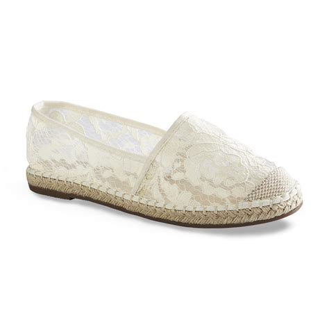 Slip On Gc gc shoes s bloomy ivory espadrille flat shop your way shopping earn points on