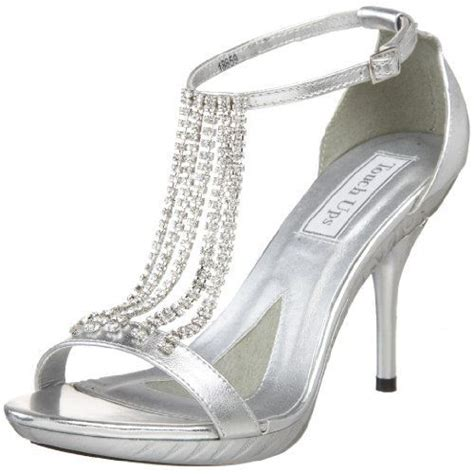 silver high heel shoes with rhinestones chained rhinestone tough up silver high heel prom sandals