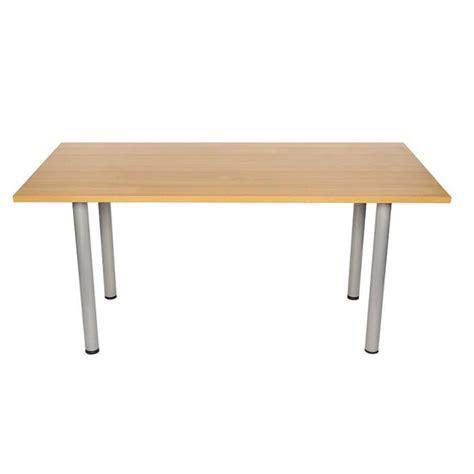 Pole Table by Pole Leg Meeting Table In Light Oak Or Beech Rectangular