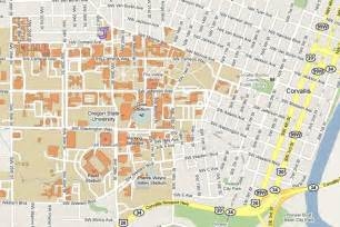 Oregon State University Map by Csil Visitors