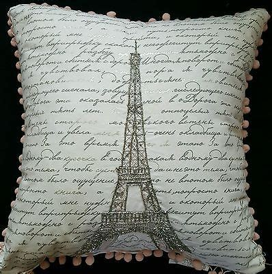 cynthia rowley bead pillow eiffel tower paris french