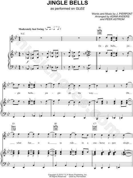 jingle bell testo italiano glee cast quot jingle bells quot sheet in bb major