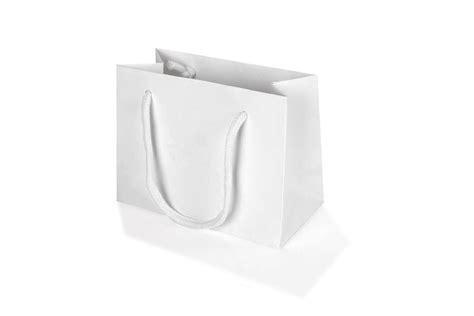 Paperbag Medium Size 26x10x32 small white landscape paper gift bag with rope handles 120