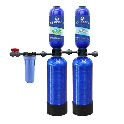 whole house water softener aquasana whole house 3 year water filtration system with simply soft salt free whole