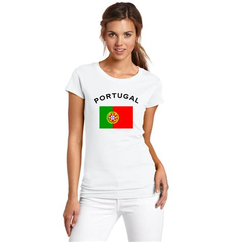 Tshirt One Nw 01 Xl From Ordinal Apparel summer portugal fans cheer t shirt national flag printed european cup swag white cotton t