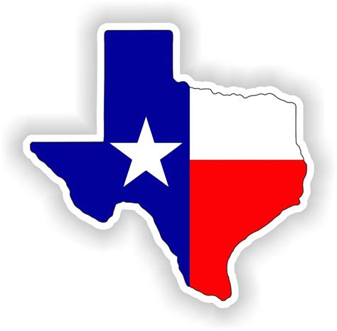 texas flag map 1x sticker texas silhouette state decal usa map flag ebay