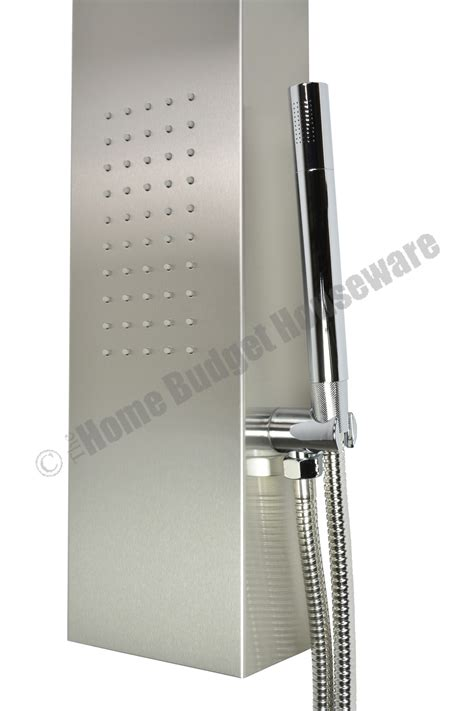 Shower Panels by Thermostatic Stainless Steel Jets Spa Shower Panel