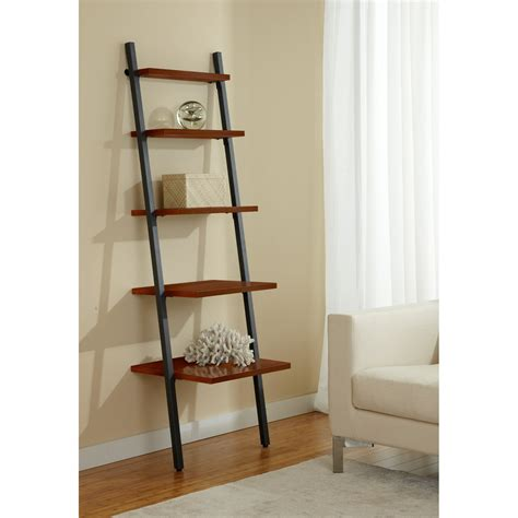 narrow ladder bookcase jesper parson narrow five tier ladder bookcase bookcases