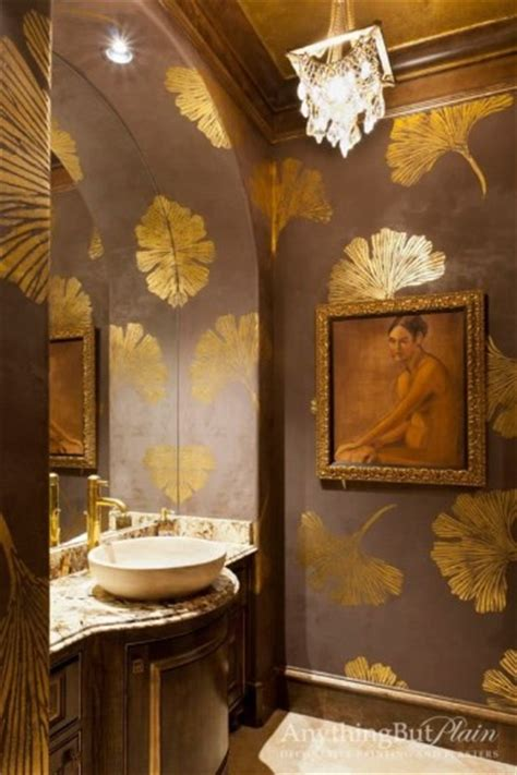 gold wallpaper decor ideas 5 decorating ideas using the chinese ginkgo stencils