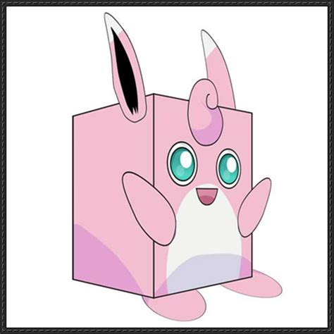 Origami Jigglypuff - wigglytuff cube craft free paper