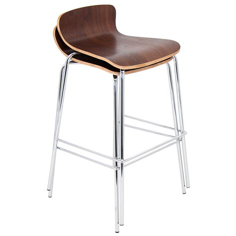 stacking breakfast bar stools weatherford modern walnut stacking bar stool eurway