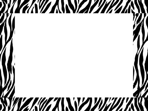 zebra printer templates for word zebra border templates free here s a great zebra border