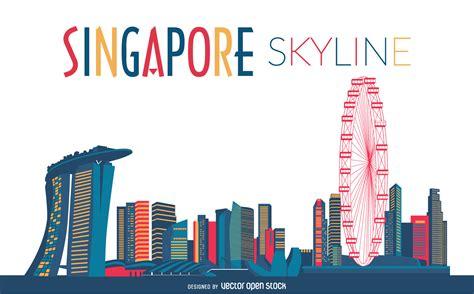 Free Online Architecture Design singapore skyline silhouette vector download