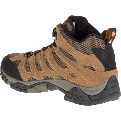 mens merrell boots merrell s moab mid wp hiking boots earth
