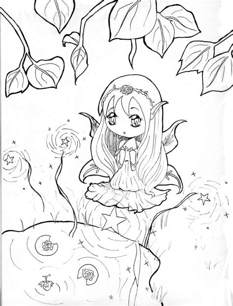 Coloring Pages Anime Chibi