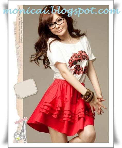 Dress Korea Baju Wanita Terusan F0053b Korea Fashion Dress mode rambut pendek cewek 2014 hairstylegalleries