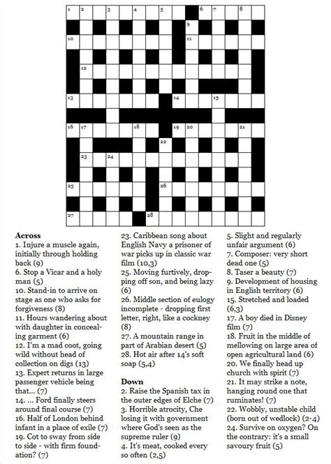 library section crossword january 2011 commoner crosswords