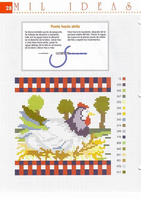 disegni a punto croce per cucina tovaglietta cucina punto croce con gallina 2