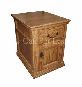 Oak End Tables Od O T250 Traditional Oak End Table With Drawer Door Fully Enclosed Oak End Tables In