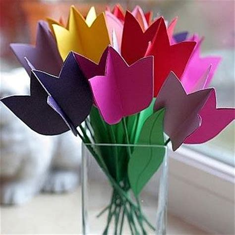 Origami Tulips Bouquet - paper tulips flower bouquet stuff for